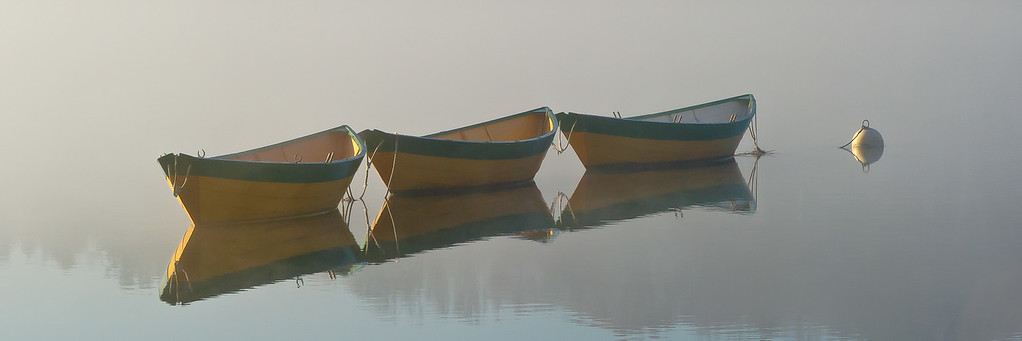 """Dories in Mist II""<br /> Amesbury, Massachusetts"