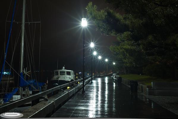 """""""Newburyport Waterfront at Night"""" Newburyport, Massachusetts"""