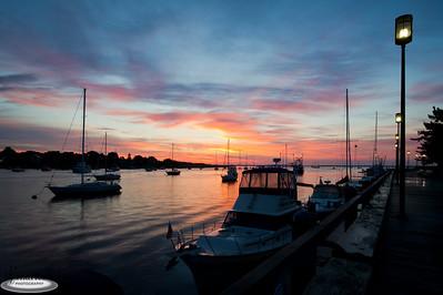 """""""Newburyport Waterfront at Sunrise"""" Newburyport, Massachusetts"""