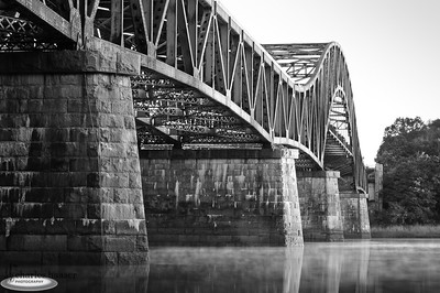 """Whittier Bridge in Black and White"" Newburyport, Massachusetts"
