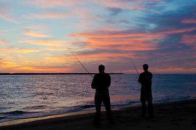 """Surfcasters at Sunrise"" Plum Island Newburyport, Massachusetts"