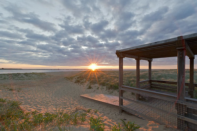 """Sunrise Plum Island Boardwalk"" Plum Island Newburyport, Massachusetts"