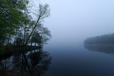 """Early Morning Mist - Artichoke Reservoir"" West Newbury, Massachusetts"
