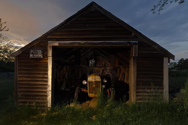 """""""Tractor at Sunset"""" West Newbury, Massachusetts"""