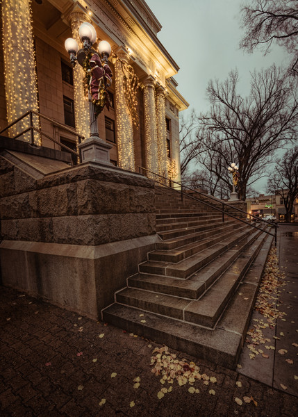 Wet Courthouse Steps