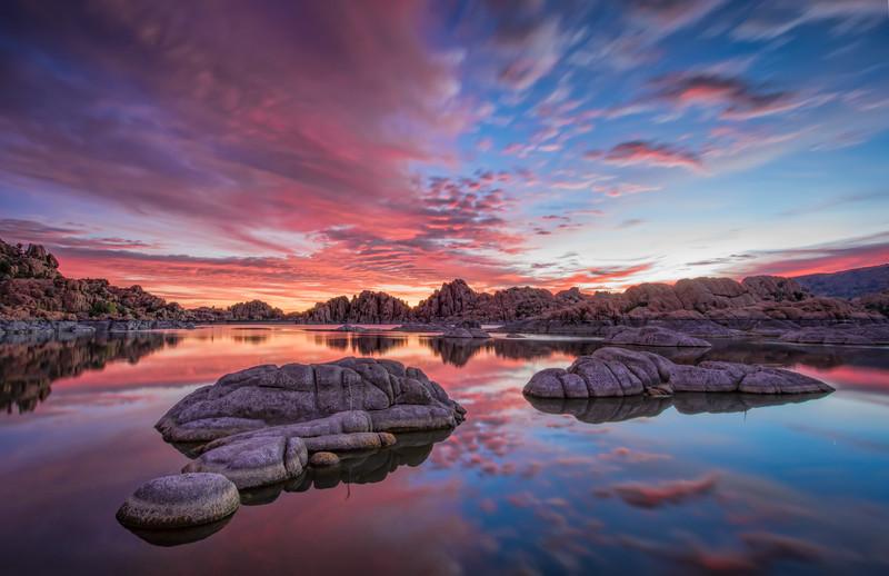Dawn on Watson Lake