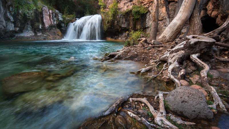 Fossil Creek, Arizona.  Southern access road was closed, so this trip ended up being a 10+ mile hike.