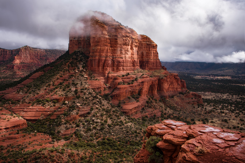 Rain Over Courthouse Butte