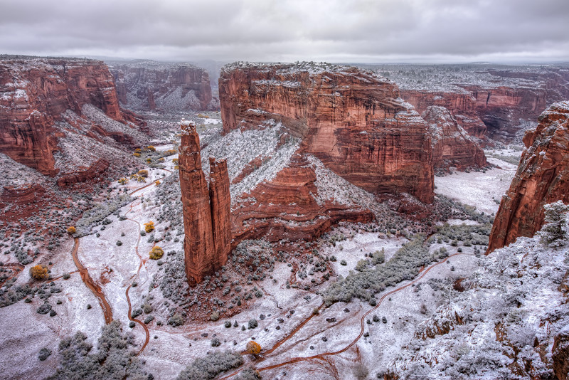 Winter at Spider Rock
