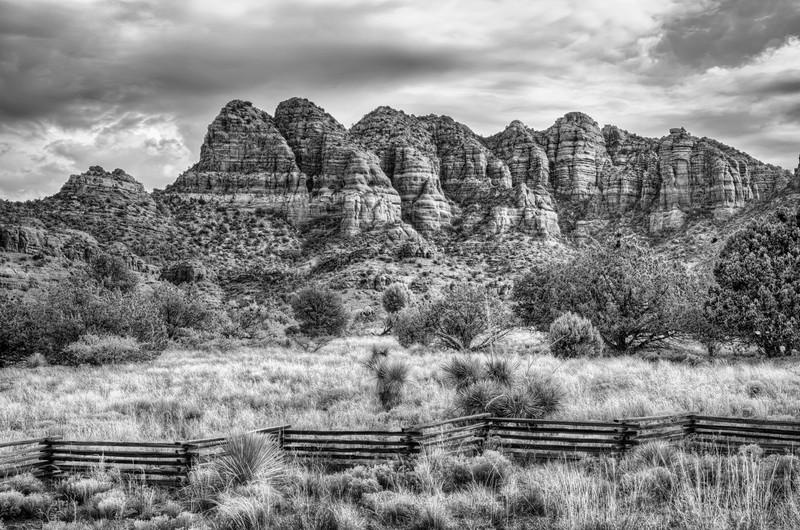 Split Rail Fence in Sedona