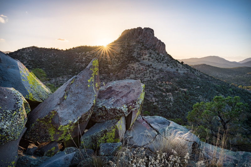 Sunset Behind Thumb Butte