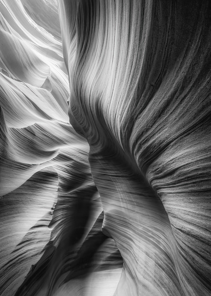 Slot Canyon in Black & White