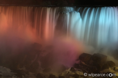 Niagara American Falls Night Pastel colors.