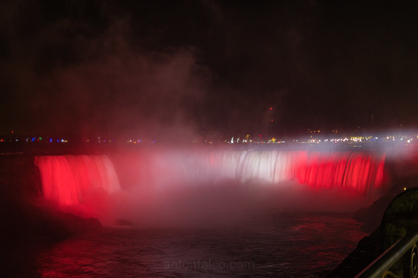 Canadian Flag Themed Niagara Falls