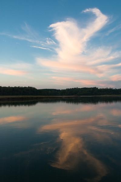 Cloud Reflection Keowee River