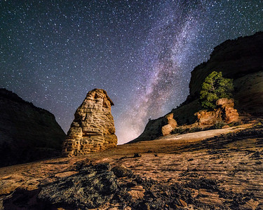 Zion Hoodoo Milky Way