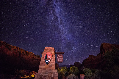 Perseids Over Zion