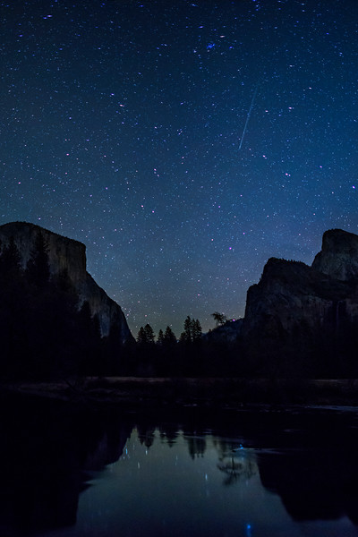 """""""Shooting Star over Gates of the Valley"""" Yosemite National Park"""