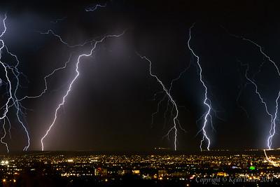 Lightning Storm over Albuquerque 5