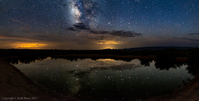 Milky Way Panorama at the Armendaris