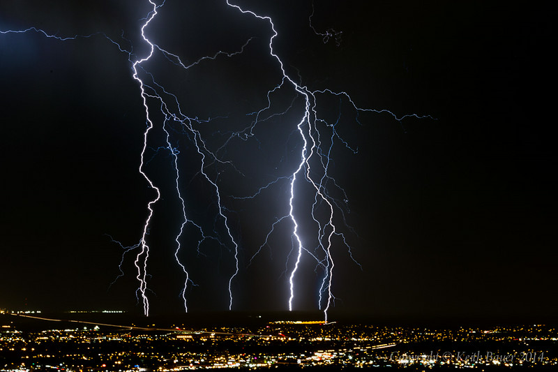 Lightning Storm over Albuquerque 4