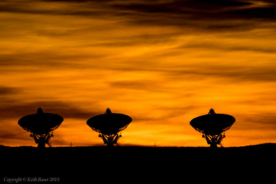 Sunset at the VLA