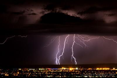 Lightning Storm Over Albuquerque 1
