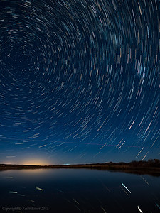 Star Trails at the Bosque