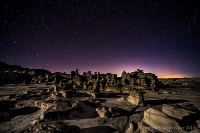 Bisti Wilderness - Moonlit Moonscape