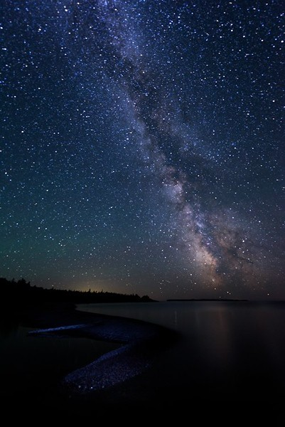 Starry Night Over Lake Superior