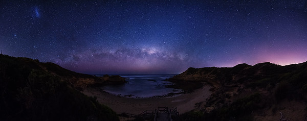 Milky Way over Diamond Bay