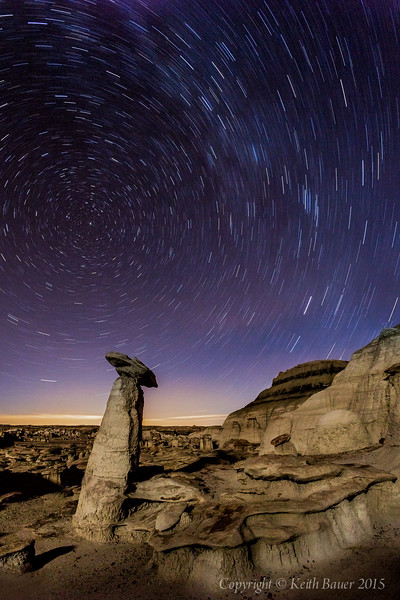 Bisti - Star Trails