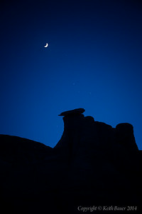 Moon over the Bisti