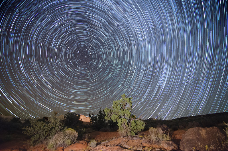 Snow Canyon Star Trails