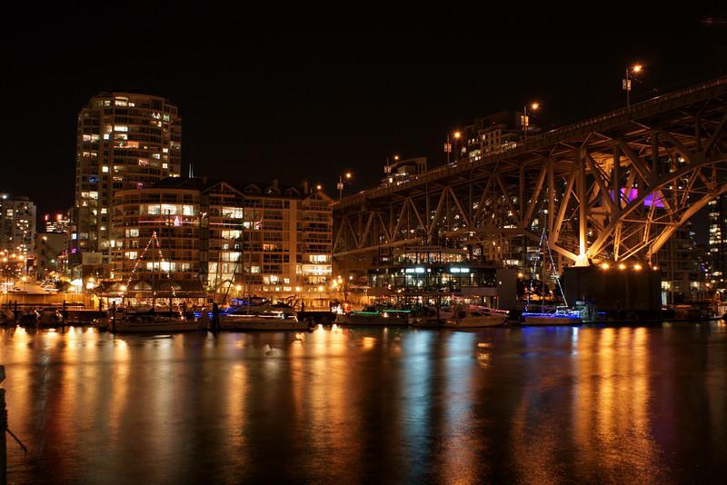 Granville Street Bridge from Granville Island, Vancouver BC Canada
