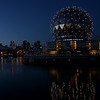 False Creek at night Vancouver BC Canada