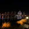 False Creek promenade at night