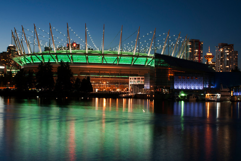 BC Place at night
