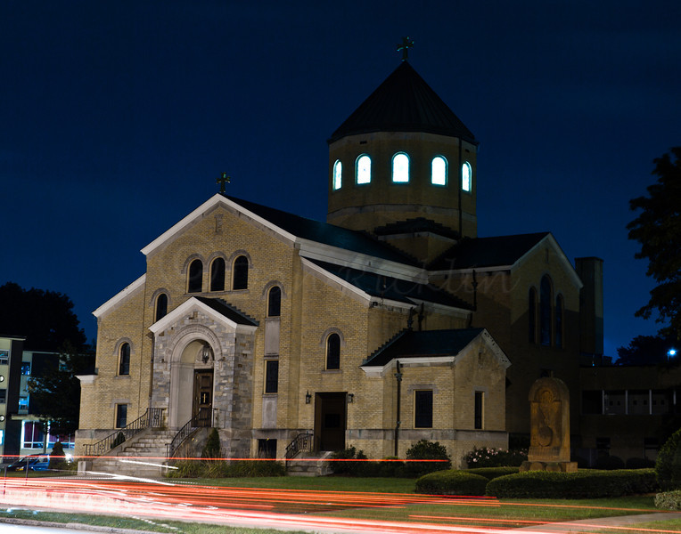 Another church at night
