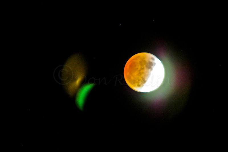Lunar Eclipse with light flares.