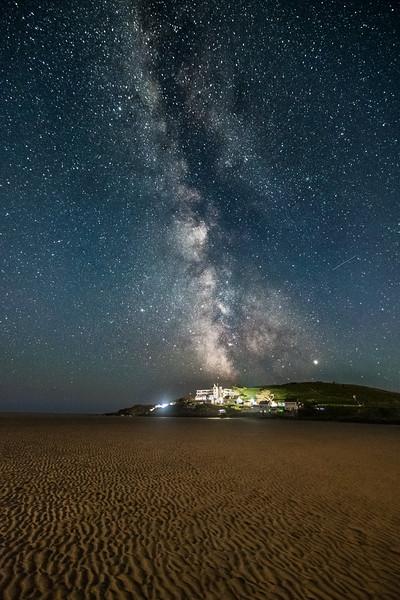 Milky Way over Burgh Island 2