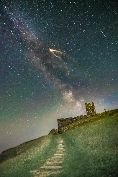 Milky Way and a Moth over Brentor
