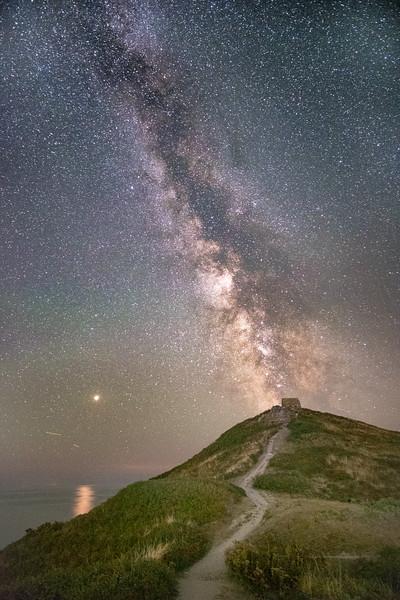 Rame Head under the Milky Way