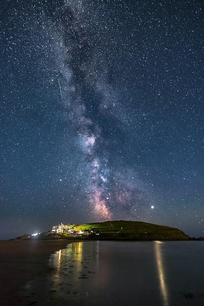 Milky Way over Burgh Island