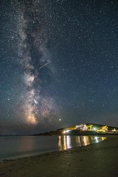 Milky Way over Burgh Island 4