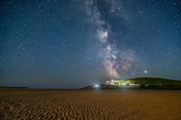 Milky Way over Burgh Island 3