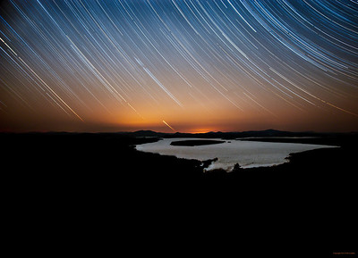 star trails, mooselookmeguntic lake, winter, ice, stars, height of land, night sky, nick leadley nature photography, rangeley, maine