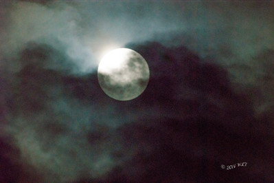Lunar Eclipse, With 10 minutes until the start it seemed the clouds were going to eat the moon.