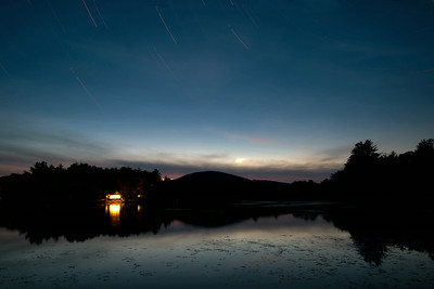 Some short star trails over the Ashuelot River this evening. 70 images at 30 seconds each, stacked. There were supposed to be 120 images but apparently I messed up the camera settings.