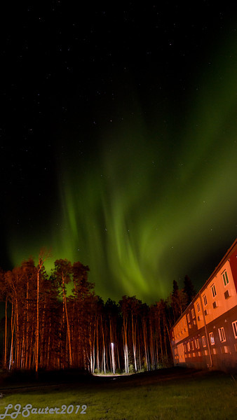 """My first attempts at the Aurora Borealis, commonly called the """"Northern Lights"""". Taken at Leismer Lodge, where I work, near Conklin Alberta."""
